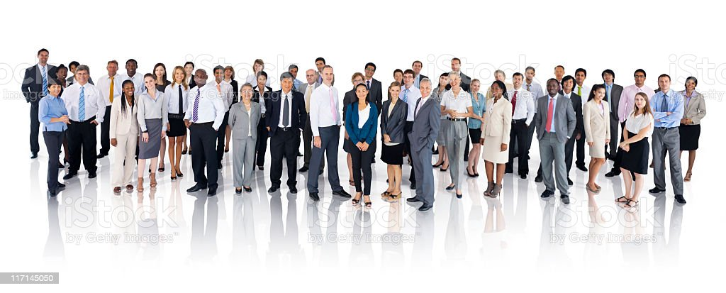 Extremely diverse group of International Business People stock photo