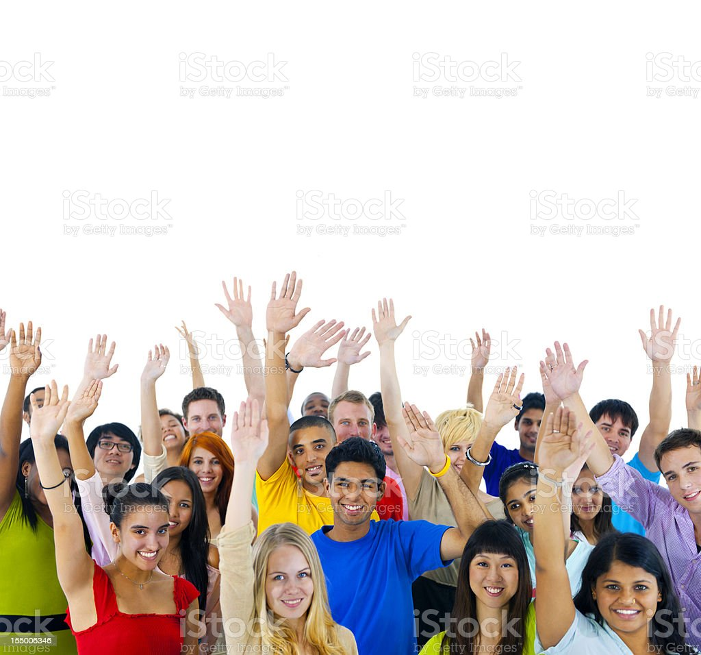 Extremely diverse group of young people from around the World. royalty-free stock photo