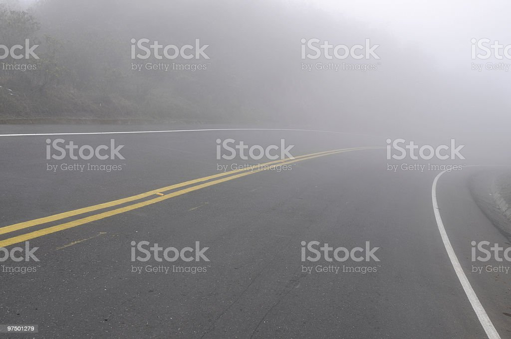 Extremely foggy morning royalty-free stock photo