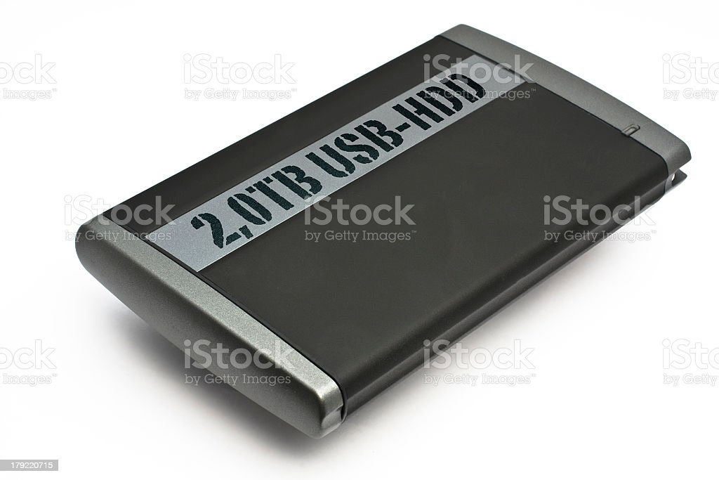 Extrnal USB Hard Disk Drive royalty-free stock photo