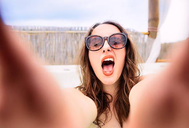 Extrovert selfie stock photo