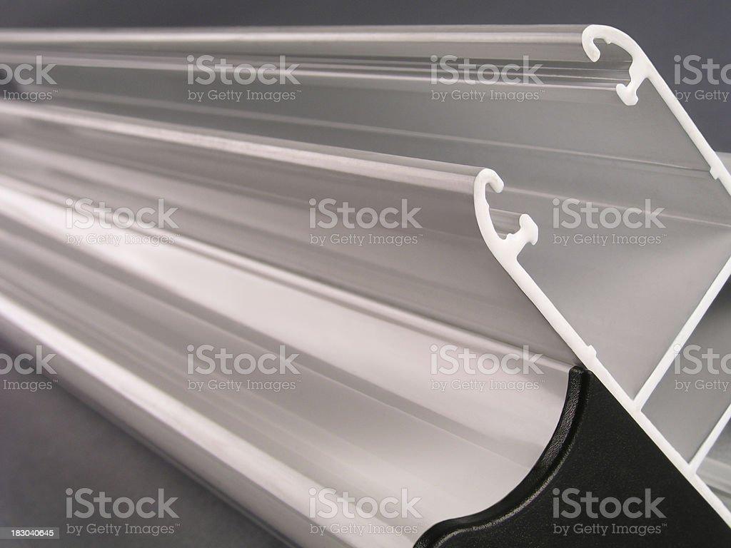 Extruded aluminum Profiles royalty-free stock photo