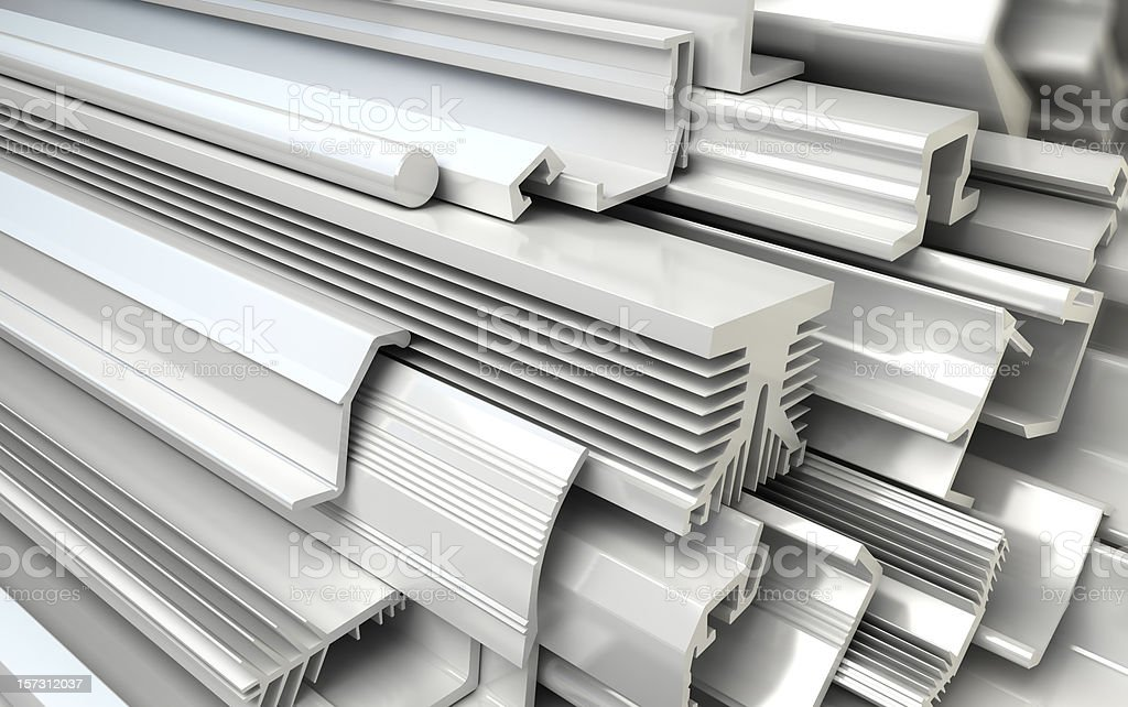 Extruded Plastic Profiles royalty-free stock photo