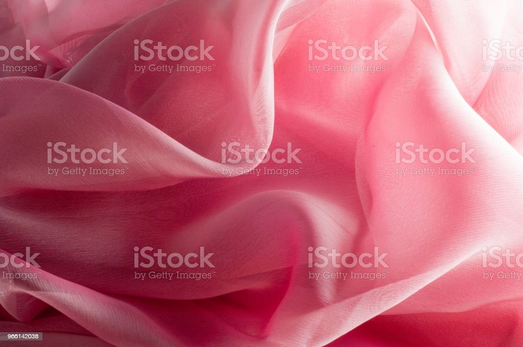 exture, background, pattern. Silk fabric pink, thin airy silk fabric - Royalty-free Abstract Stock Photo