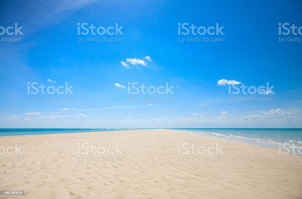 Exuma Bahamas Sandbar Formation stock photo