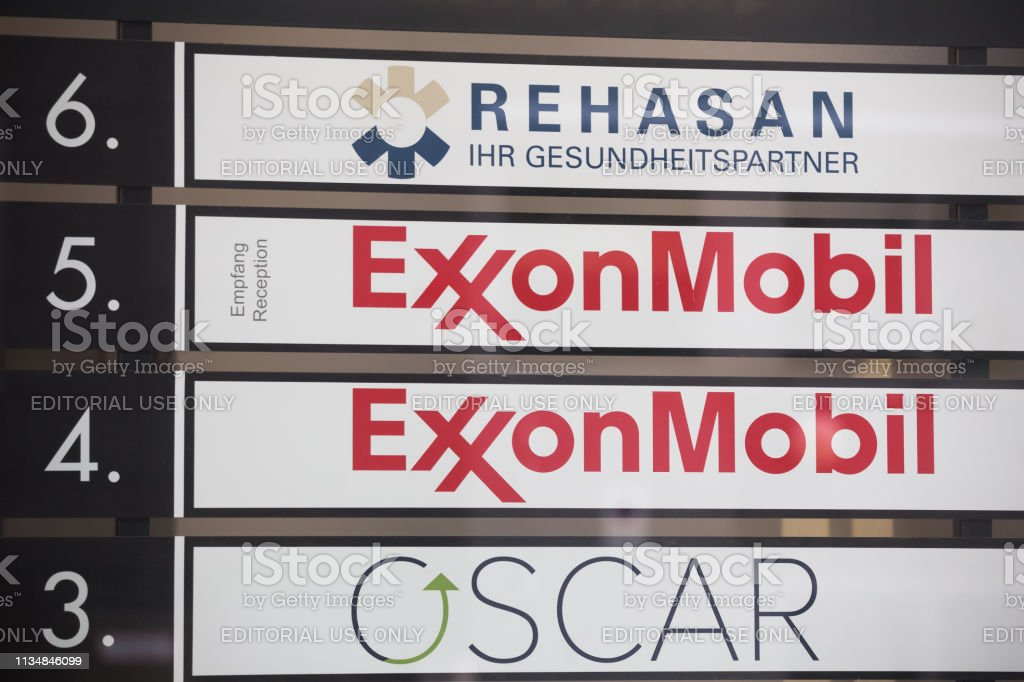 Exxon Mobil Sign In Cologne Germany Stock Photo - Download