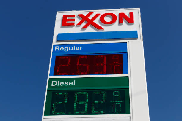 Exxon Retail Gas Location. ExxonMobil is the World's Largest Oil and Gas Company stock photo