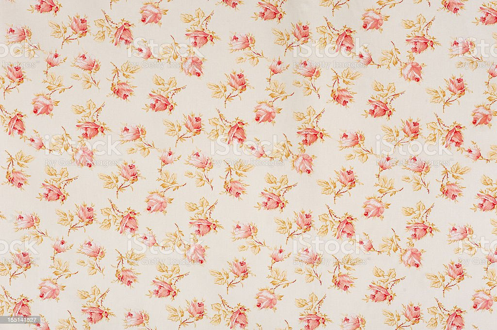 Eydies Rose Drop Floral Antique Fabric stock photo