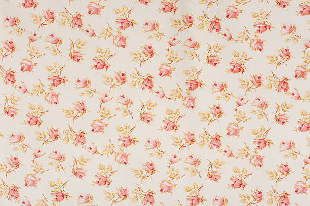 Eydies de tissu Rose Floral Antique - Photo