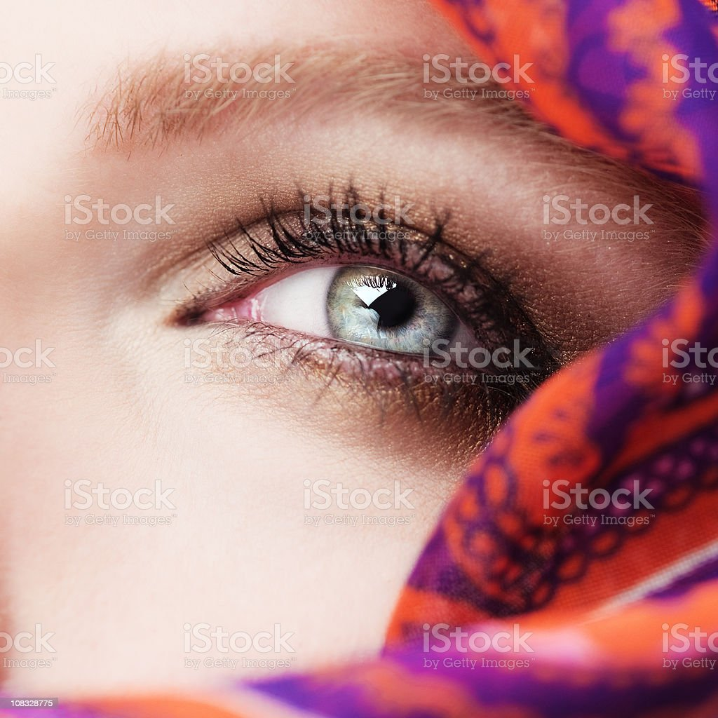Eye and vail royalty-free stock photo