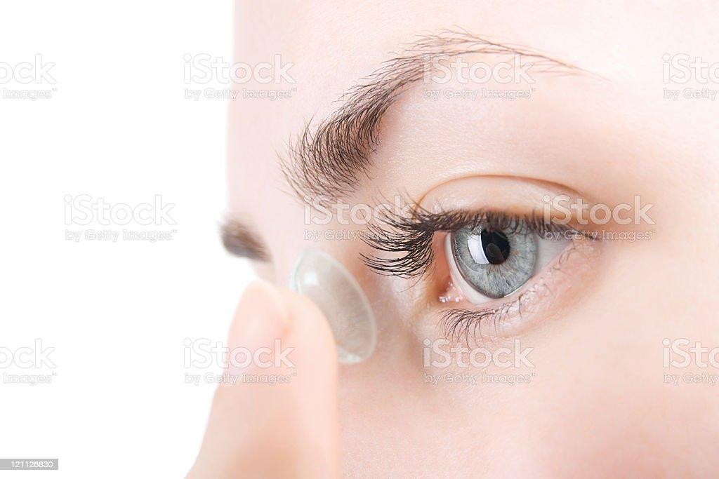 Eye care royalty-free stock photo