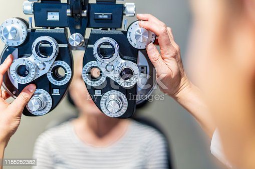 State of The Art Eye Care Facility Professional Using Eye Technology Equipment (Shot with Canon 5DS 50.6mp photos professionally retouched - Lightroom / Photoshop - original size 5792 x 8688)