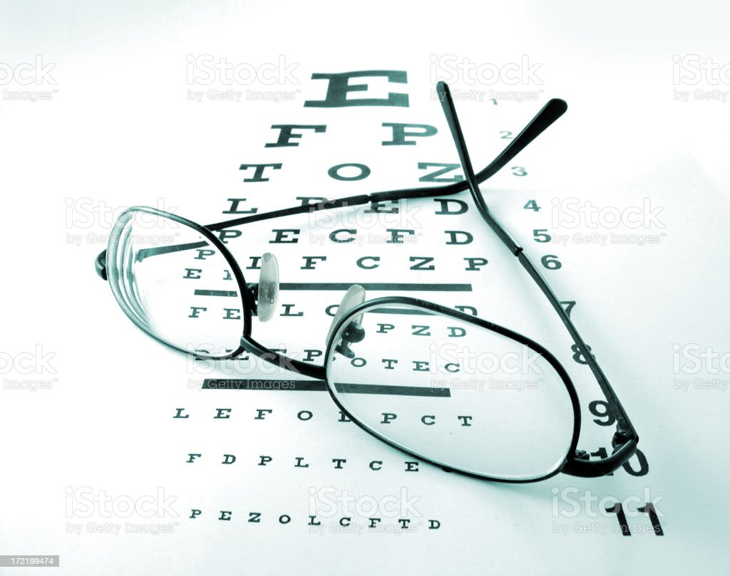 eye chart 2 stock photo