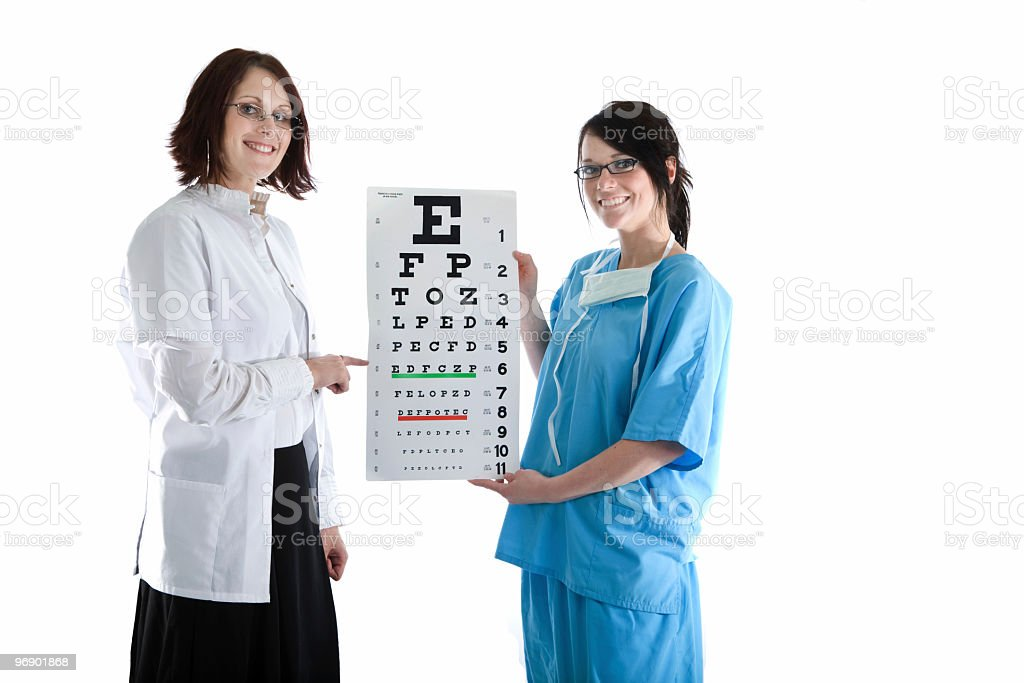 Eye Chart Demonstration royalty-free stock photo
