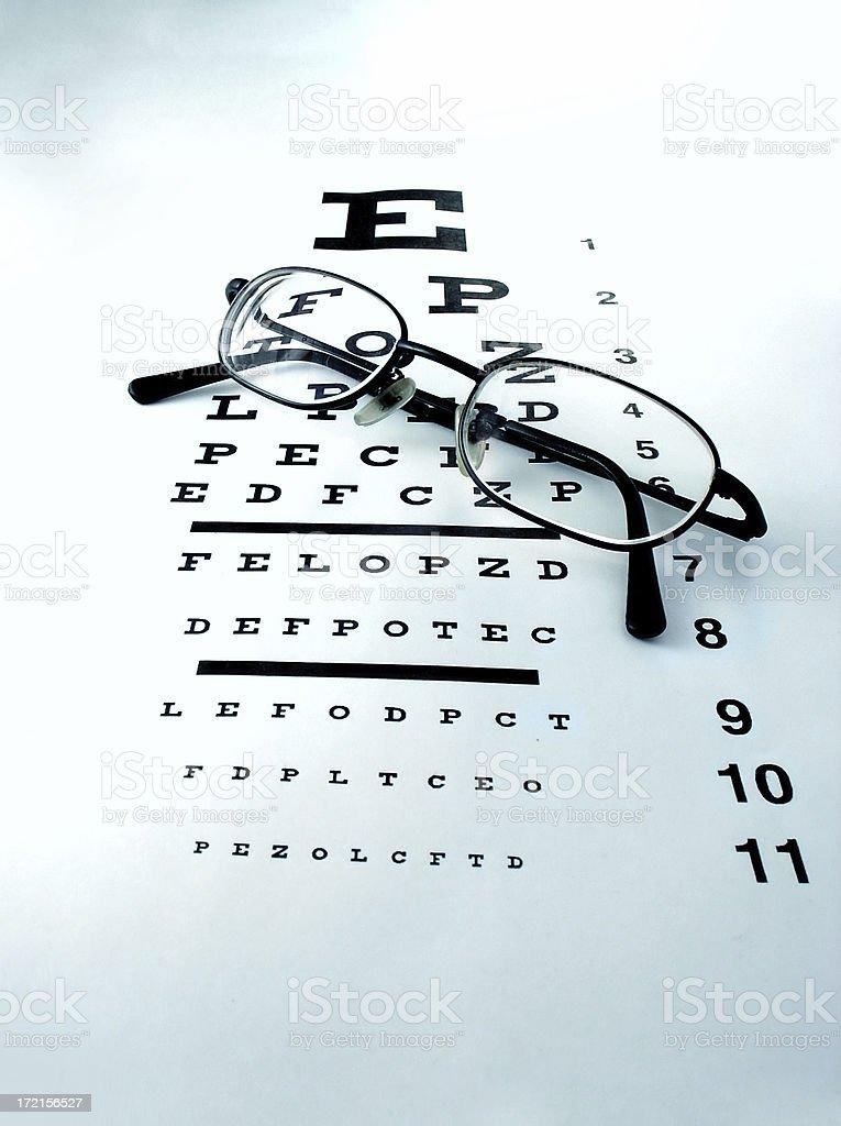 eye chart stock photo