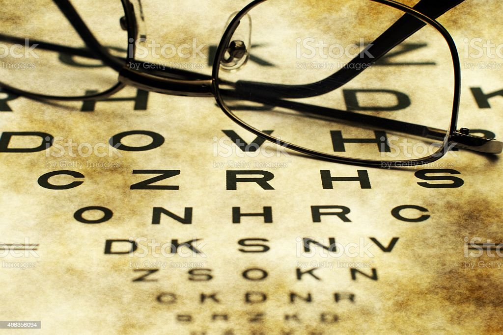Eye chart royalty-free stock photo