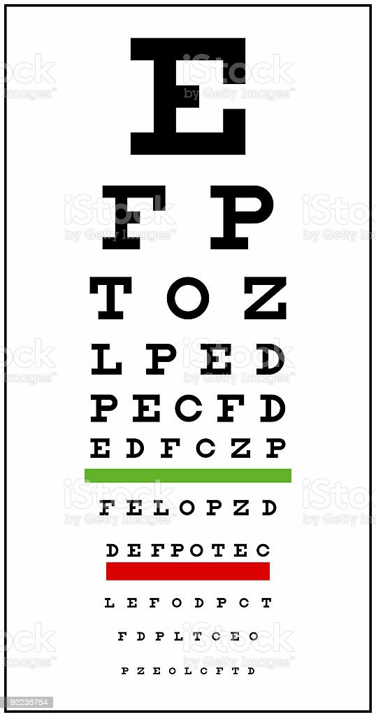 Eye Chart stock photo