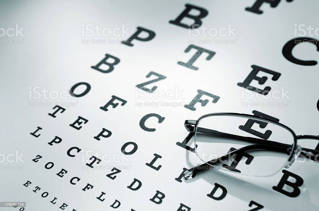 eye chart series royalty-free stock photo