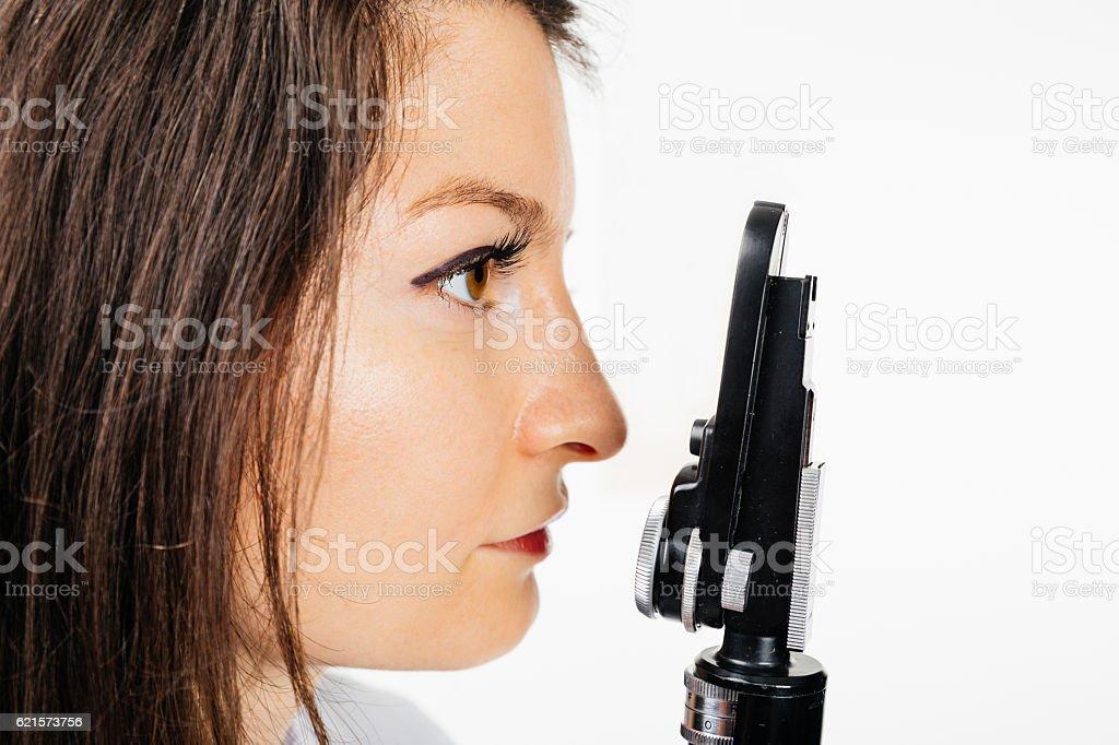 Bilan des yeux photo libre de droits