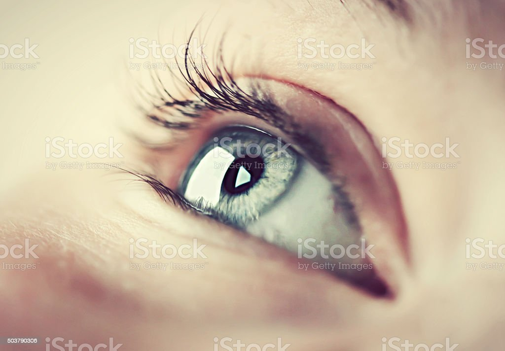 Eye close up stock photo