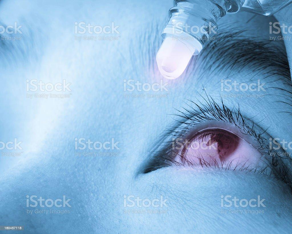 eye drop stock photo