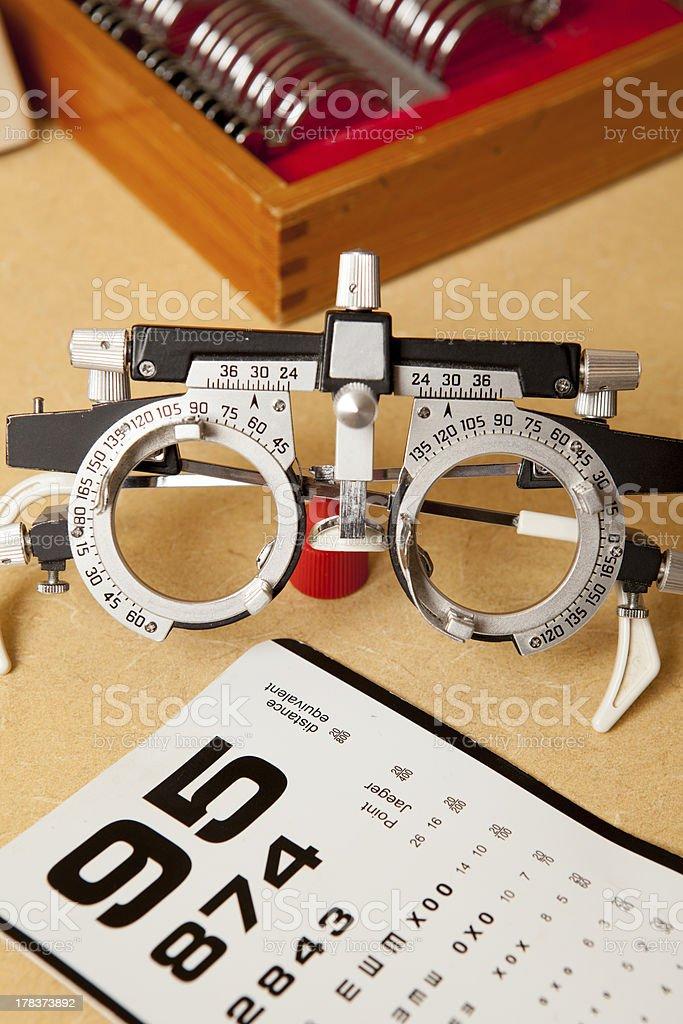 Eye Exam Glasses stock photo