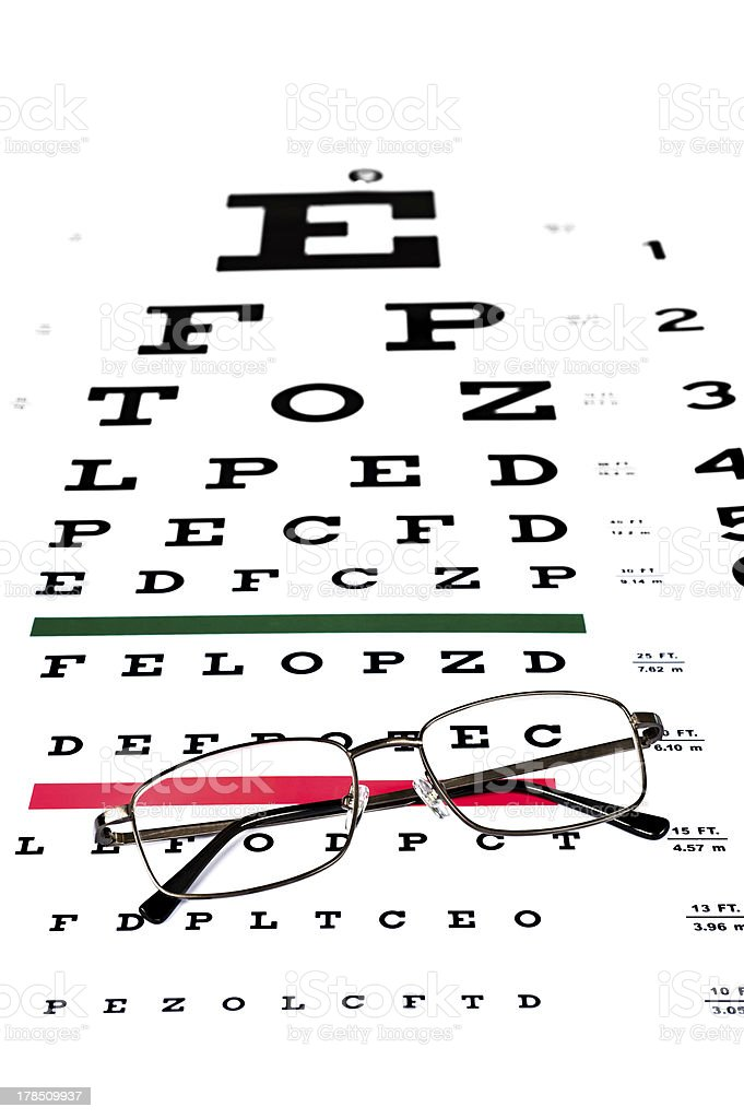 Eye exam royalty-free stock photo