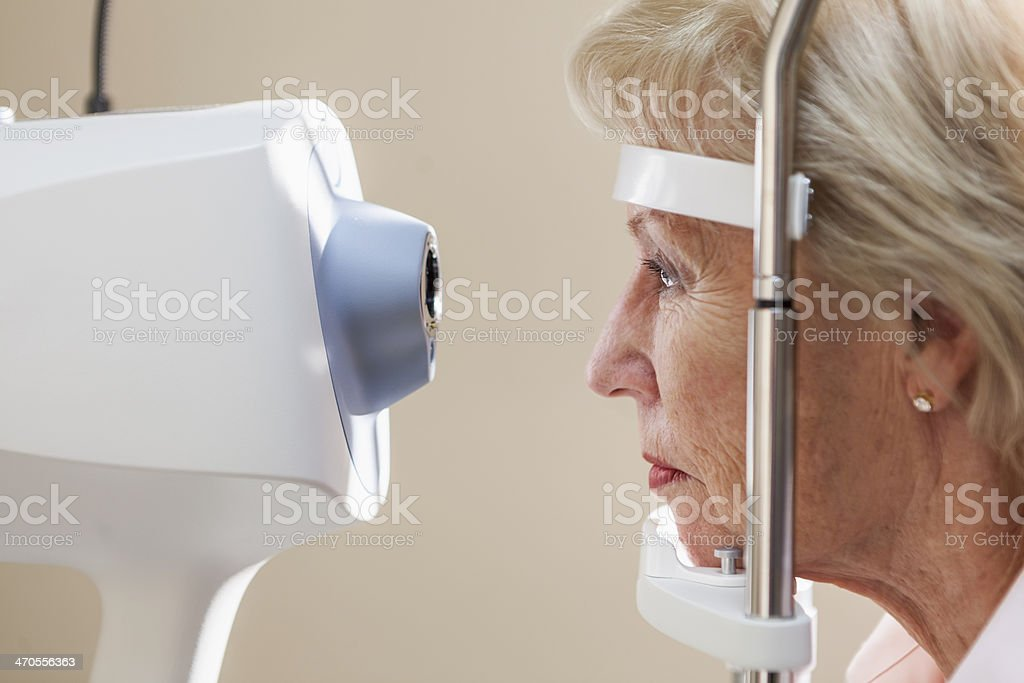Eye exam stock photo