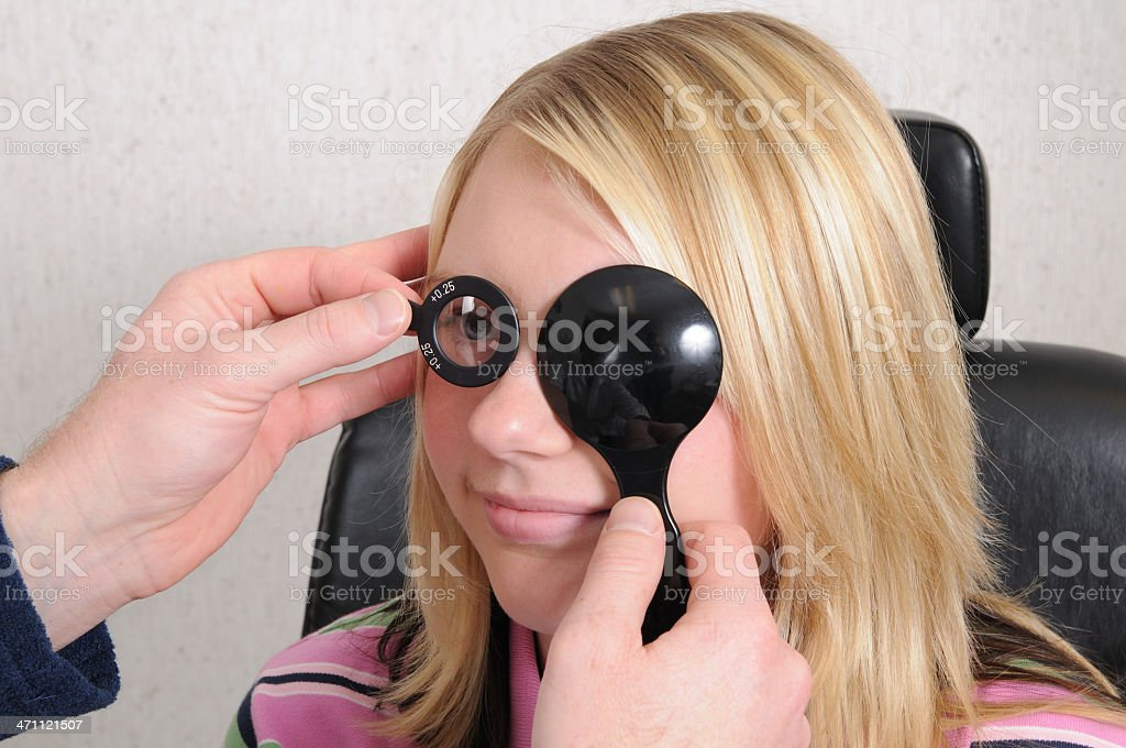 Eye Exam (XL) royalty-free stock photo
