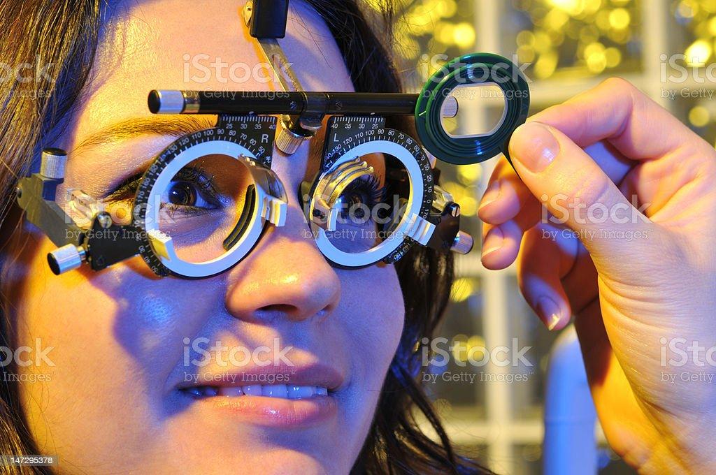 Eye examination royalty-free stock photo