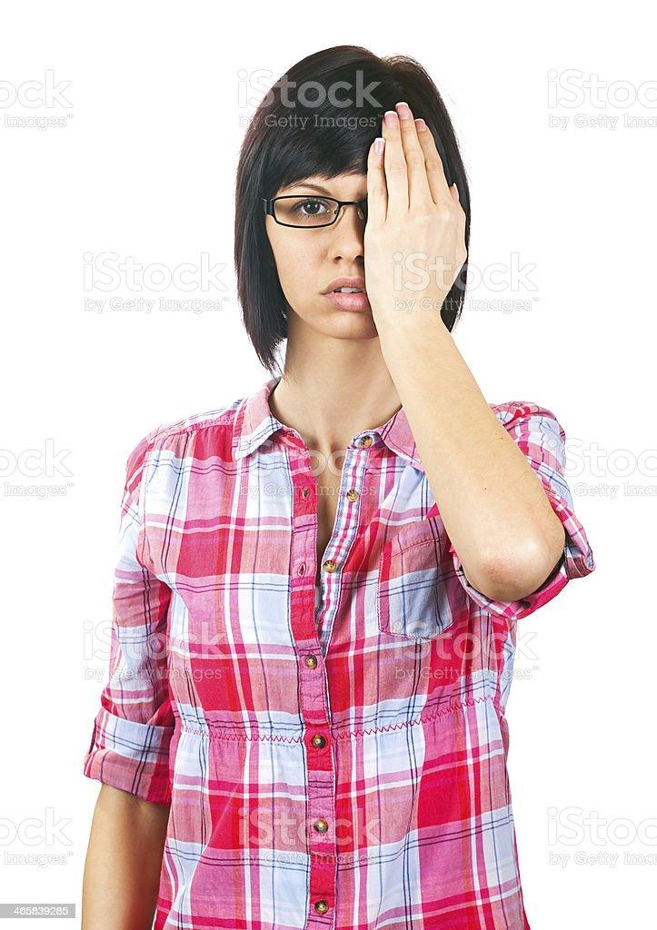 Eye examination stock photo