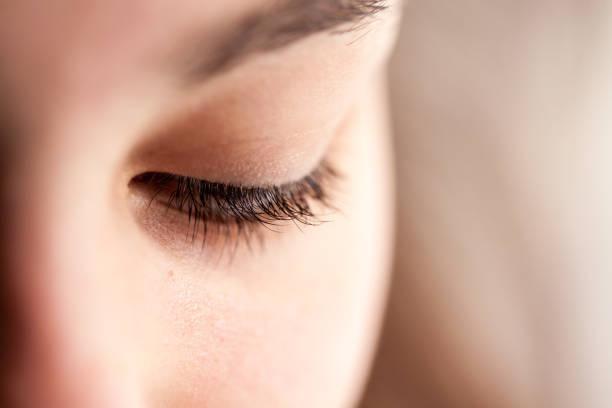 eye, eyelid & eyelashes -details - eyelid stock pictures, royalty-free photos & images