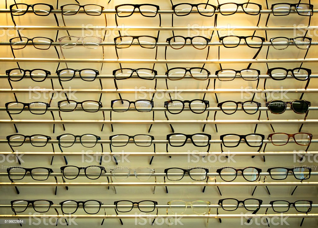 Eye Glasses Display stock photo