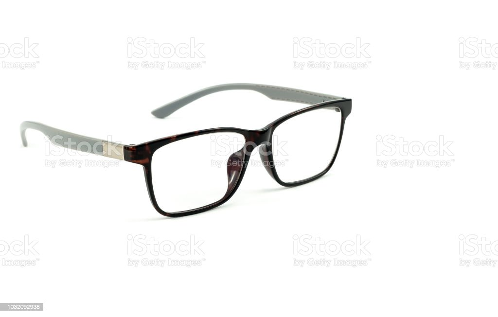 Eye Glasses Isolated On A White Background Stock Photo