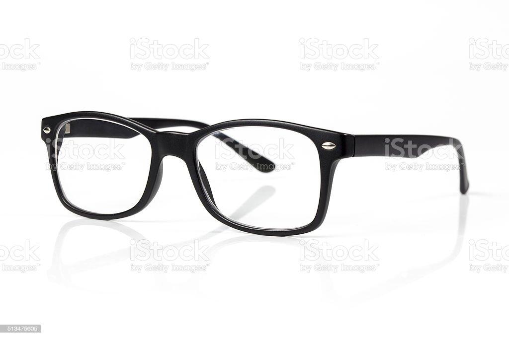 eye glasses isolated on white stock photo