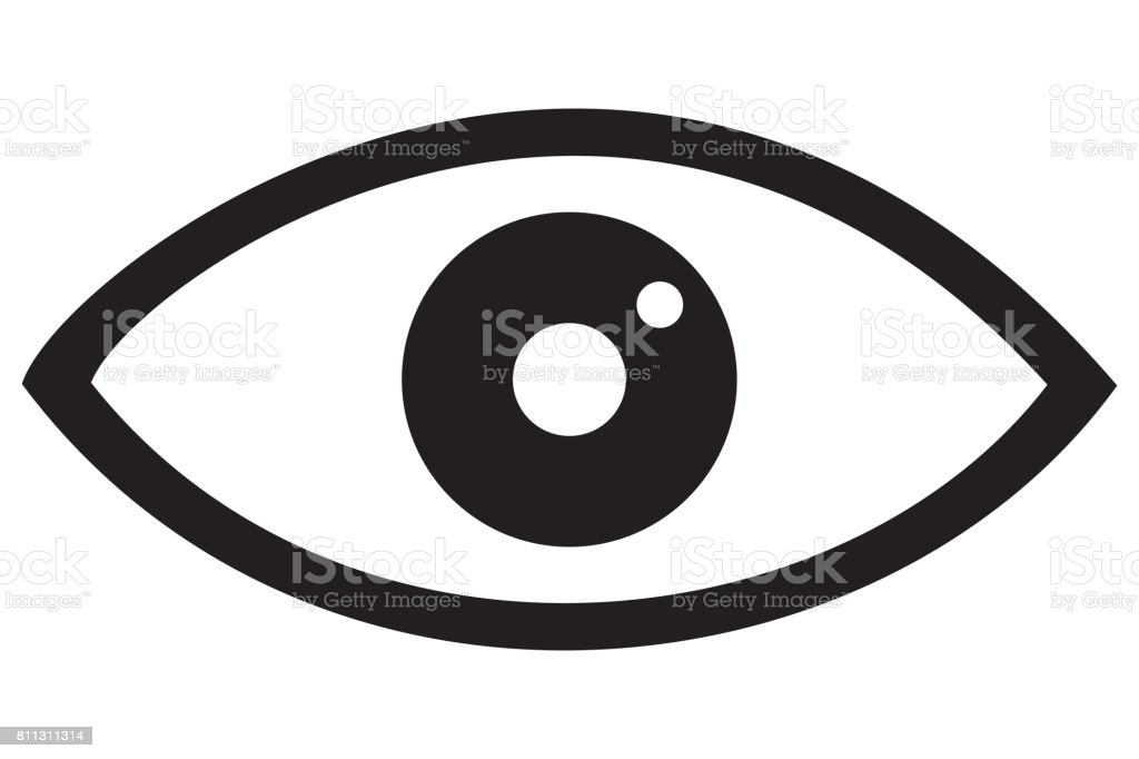 Eye Icon Black - foto stock