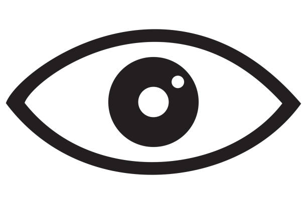Eye Icon Black - foto stock