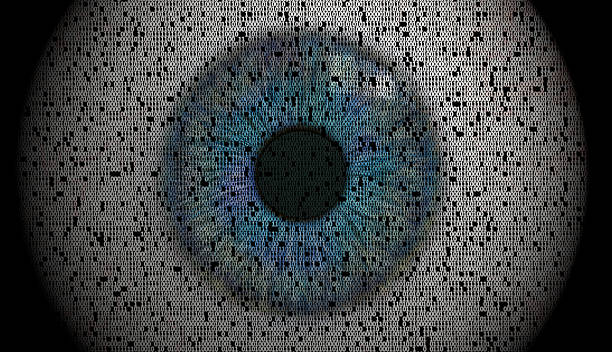 Eye image made from data collage stock photo