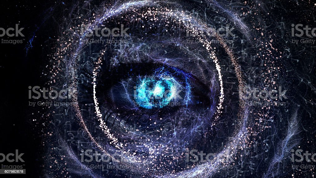 Eye in Space, Eyes Soul stock photo