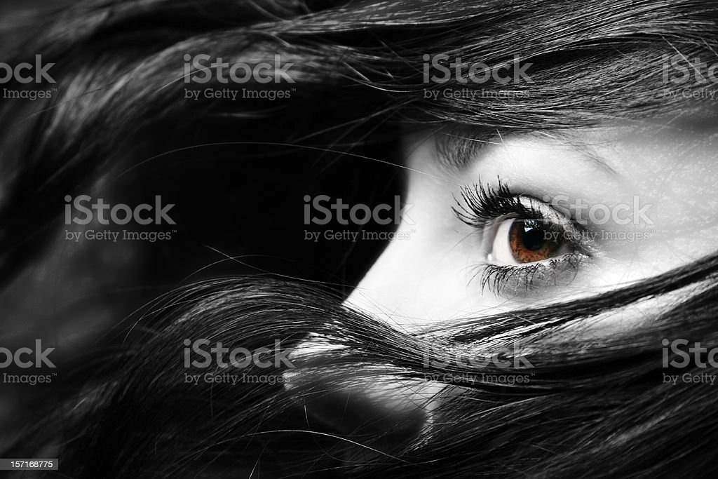 eye in the black royalty-free stock photo