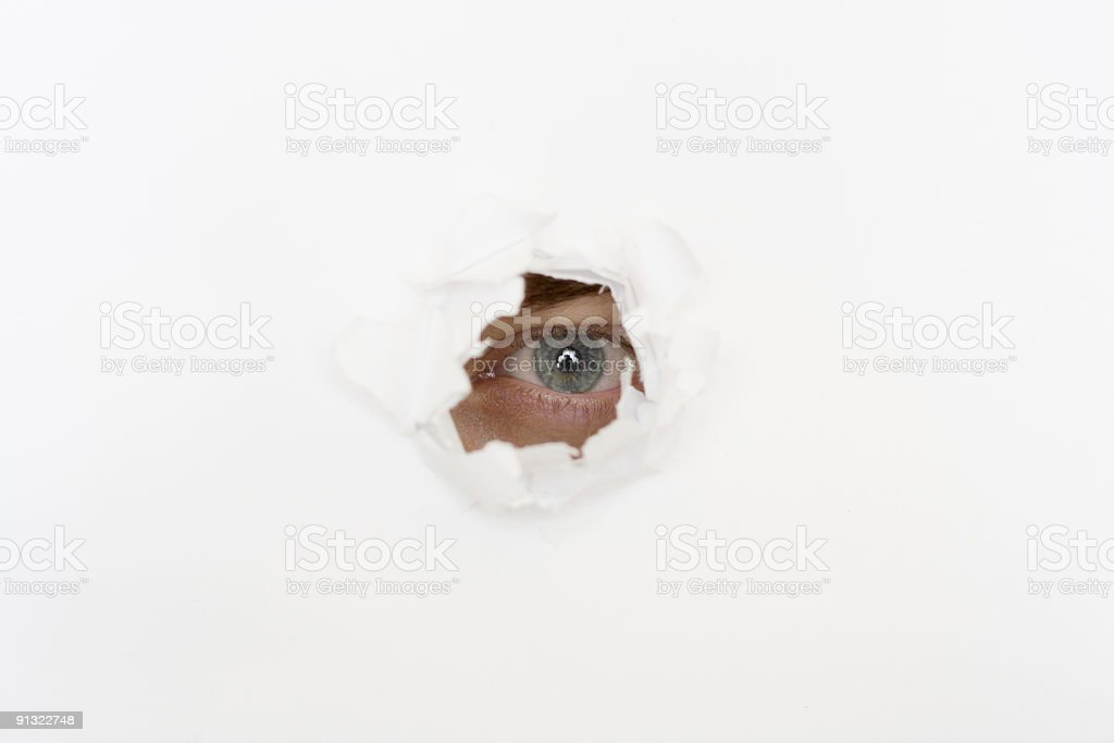 eye in the hole royalty-free stock photo