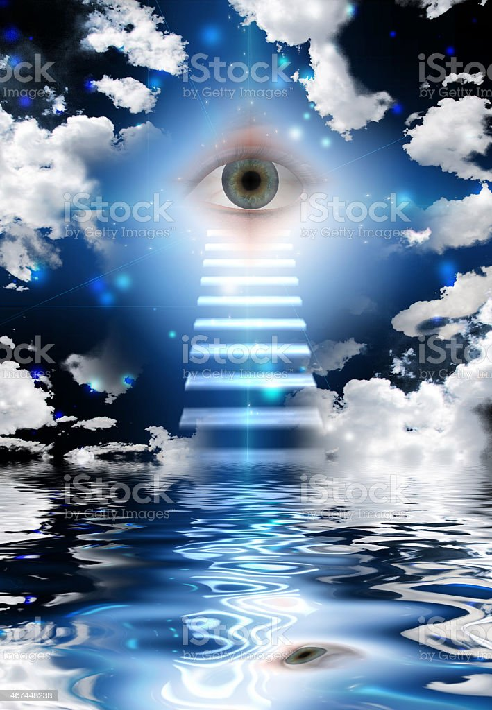 Eye in the sky, looking at you stock photo