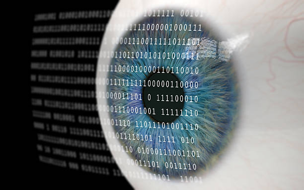 Auge um Binärcode. – Foto