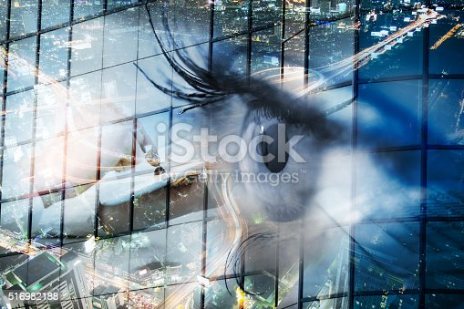 istock Eye looks to the future business. 516982188