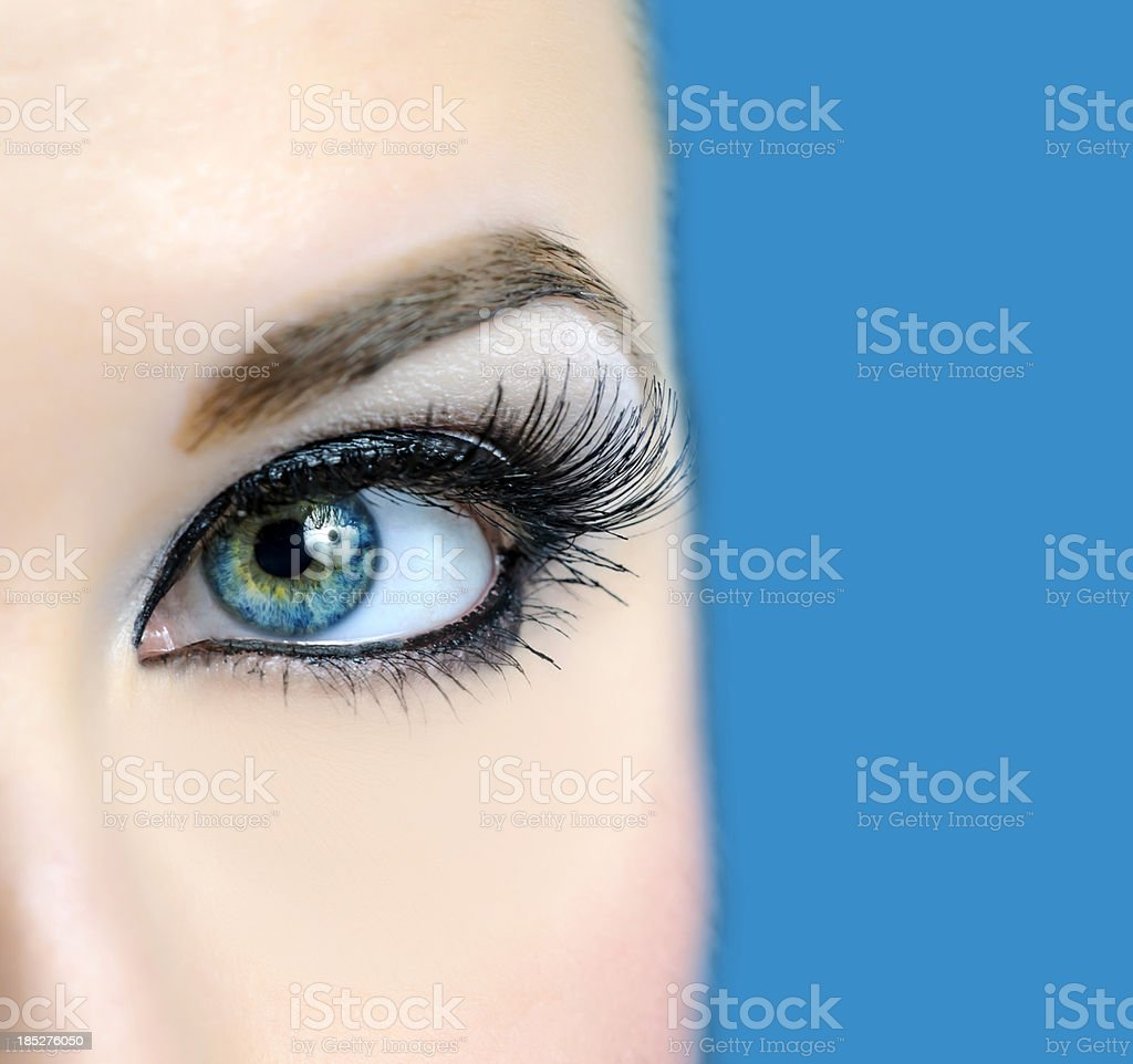 eye macro royalty-free stock photo