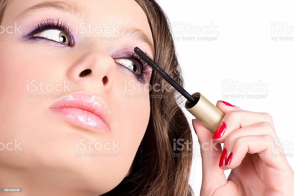Eye make-up royalty free stockfoto