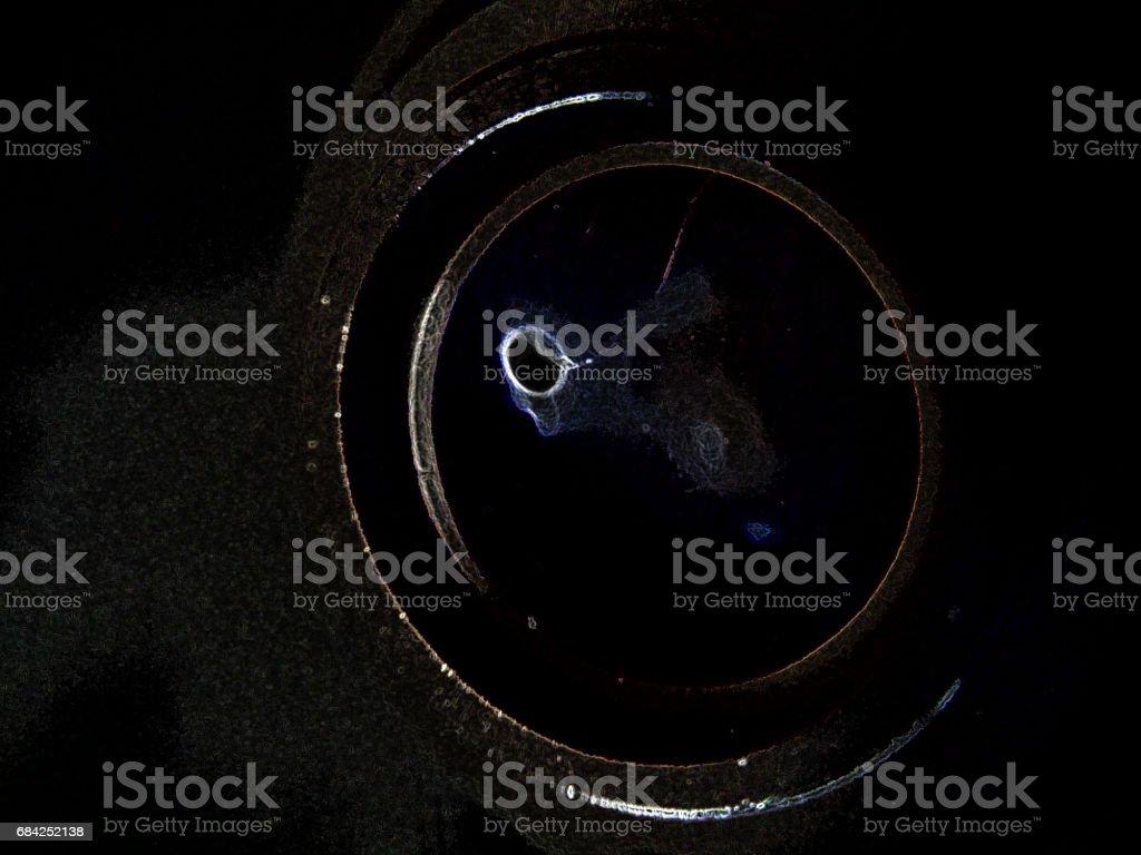 eye of cosmos in dark world royalty-free stock photo
