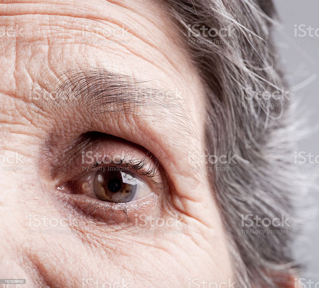 Eye of elderly woman royalty-free stock photo