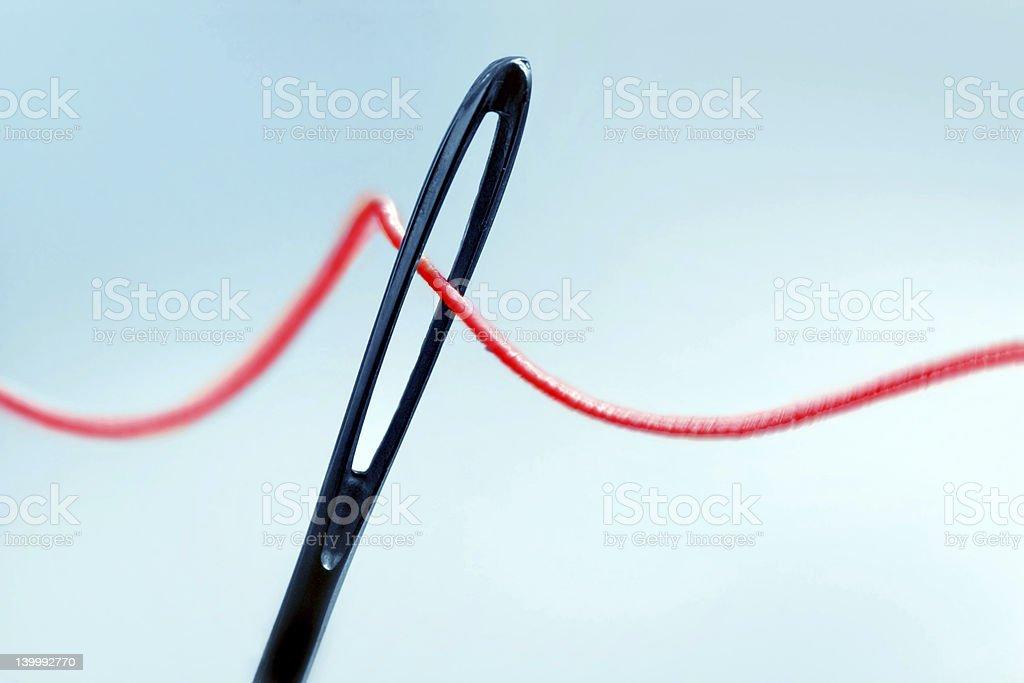 eye of needle royalty-free stock photo