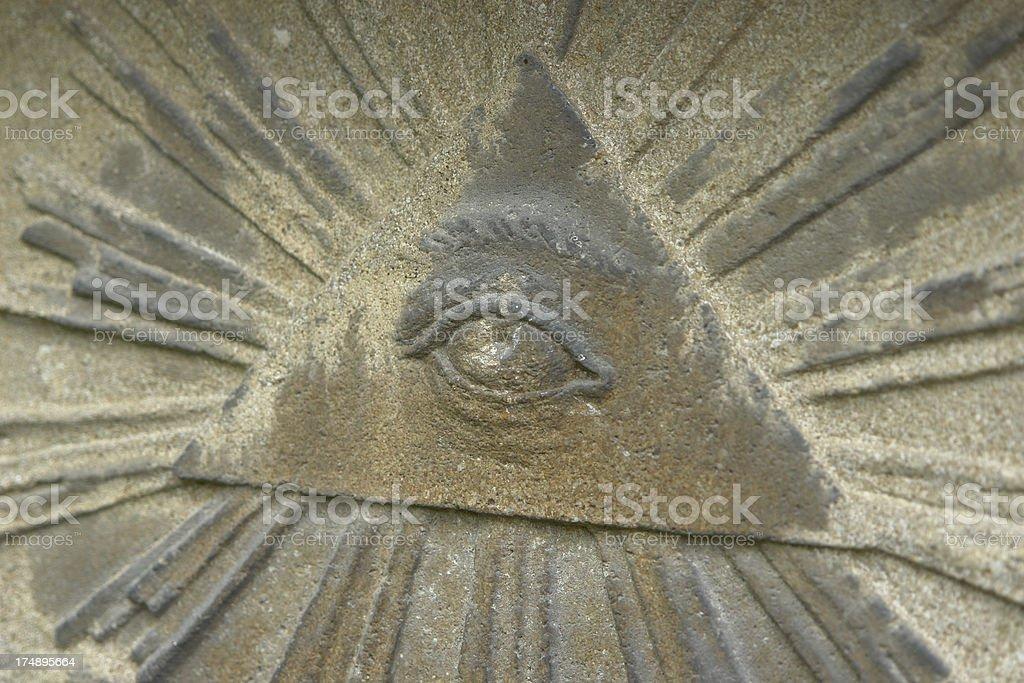 Eye of Providence Sandstone symbol royalty-free stock photo